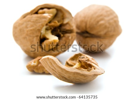 nut on a white background