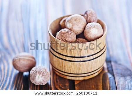 nutmeg - stock photo