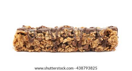 Nutrient chewy grains bar isolated over the white background