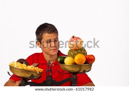Nutrition balance - stock photo