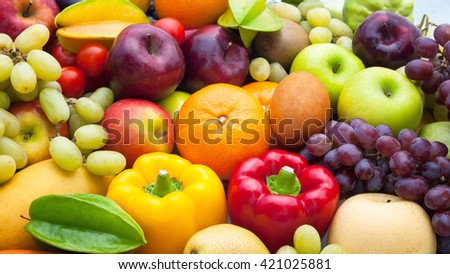 Nutrition Fruits and vegetables for healthy