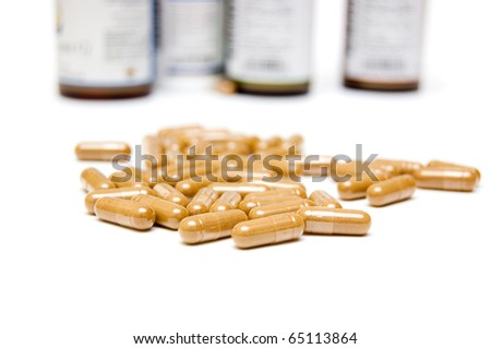 nutritional supplement concept - stock photo