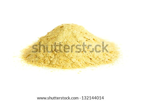 Nutritional yeast, natural source of vitamin B. Saccharomyces cerevisiae.