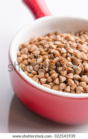 Nutritious buckwheat grains for a healthy diet. - stock photo