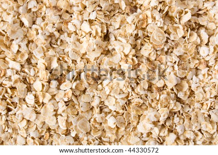 Nutritious rolled oats as texture or background