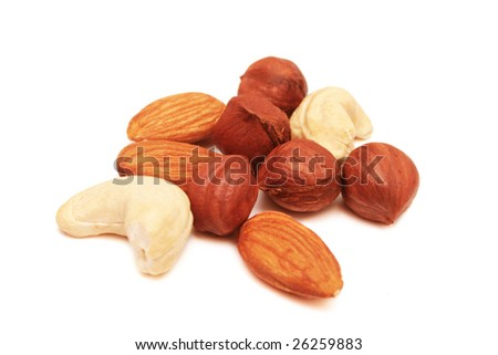 Nuts. - stock photo
