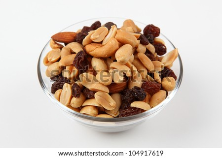 nuts and raisins - stock photo
