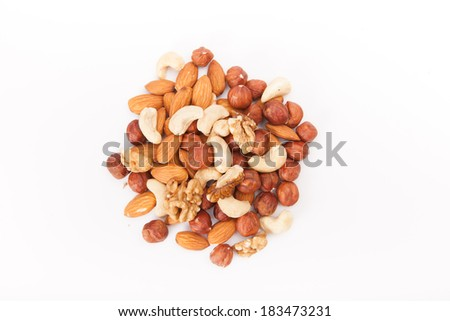 nuts and raisins - stock photo