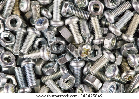 Nuts Bolts Background - stock photo