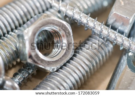 Nuts & bolts & screws - stock photo