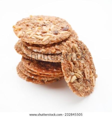 nuts cookies - stock photo