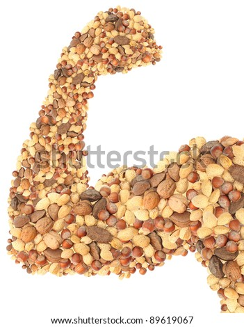 Nuts muscle food - stock photo