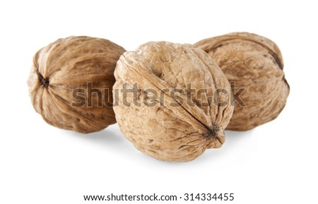 nuts on a white background - stock photo