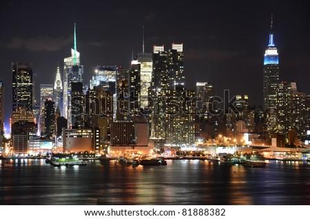 NY Evening - stock photo
