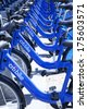 NY, NY, USA - SEP 21, 2013: Citi Bike is New York City's bike sharing system. Intended to provide people with an additional transportation option for getting around the city. - stock photo