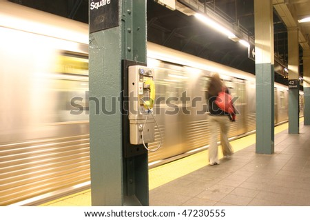 NY Subway - stock photo