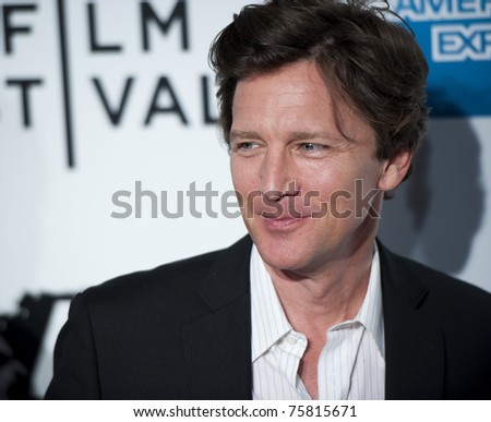 """NYC - APRIL 20 - Andrew McCarthy arrives for the opening night of the Tribeca Film Festival and world premier of """"The Union"""" on April 20, 2011 in New York City, NY - stock photo"""