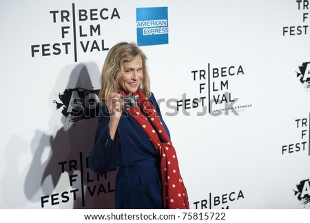 """NYC - APRIL 20 - iconic model Lauren Hutton arrives for the opening night of the Tribeca Film Festival and world premier of """"The Union"""" on April 20, 2011 in New York City, NY - stock photo"""