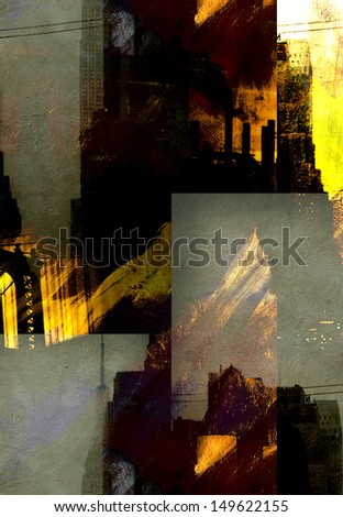 NYC City Abstraction - stock photo