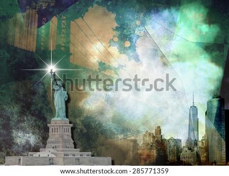 NYC Landscape - stock photo