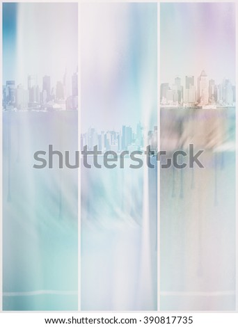 NYC Pastel Abstract - stock photo
