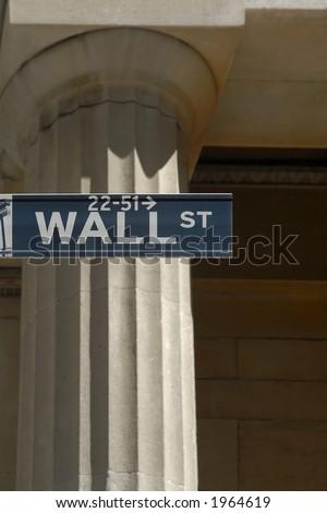 NYC Stock Exchange, Wall Street - stock photo