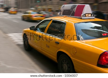 NYC Taxi Cab - stock photo