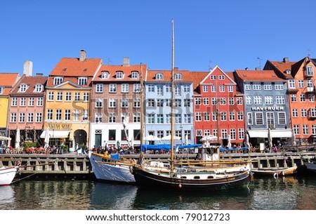 Nyhavn - Copenhagen, Denmark - stock photo