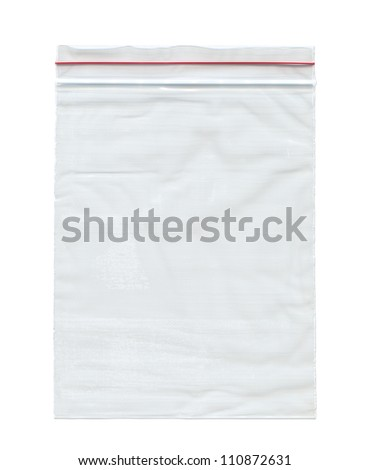 Nylon bag , Isolated on white - stock photo