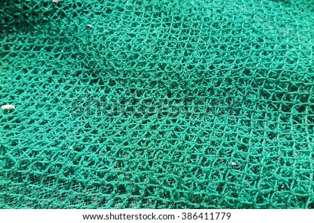 Nylon fishing net - stock photo