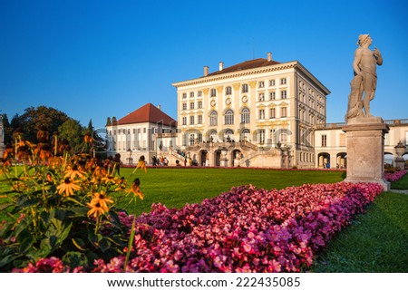 Nymphenburg castle  in Munich, Germany - stock photo
