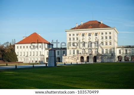 nymphenburg castle, munich - stock photo