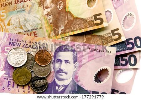 NZ Cash - stock photo