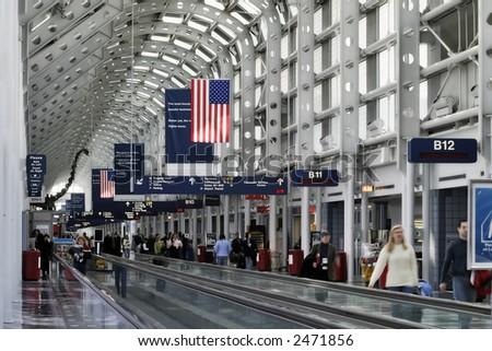 O'Hare B Gates - stock photo