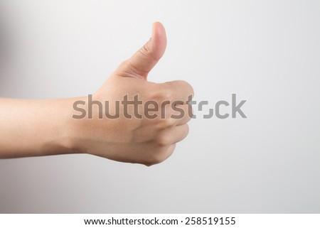 O.K. Thumbs up - stock photo