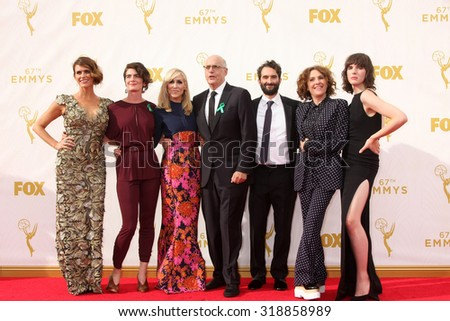 "o909LOS ANGELES - SEP 20:  ""Transparent"" at the Primetime Emmy Awards Arrivals at the Microsoft Theater on September 20, 2015 in Los Angeles, CA - stock photo"