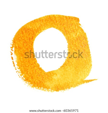 O - Watercolor letters (Lower case) - stock photo