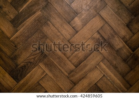 Oak Parquet.Oak Parquet Old.Oak Parquet Brown.Oak Parquet Floor.Oak Parquet Renovated.Oak Flooring Cast,Reconstruction House.Reconstruction Floor - stock photo
