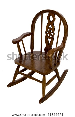 Oak Rocking Chair - stock photo