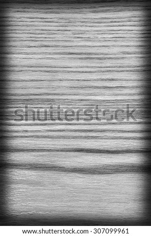 Oak Wood Bleached and Stained Gray Vignette Grunge Texture Sample. - stock photo