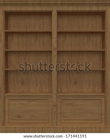 Oak Wooden book shelf