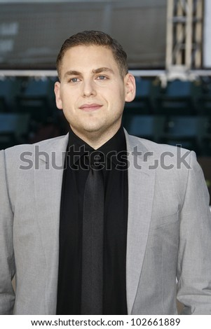 OAKLAND, CA - SEPT 19: Jonah Hill at the world premiere of Columbia Pictures' 'Moneyball' at the Paramount Theater of the Arts on September 19, 2011 in Oakland, California - stock photo