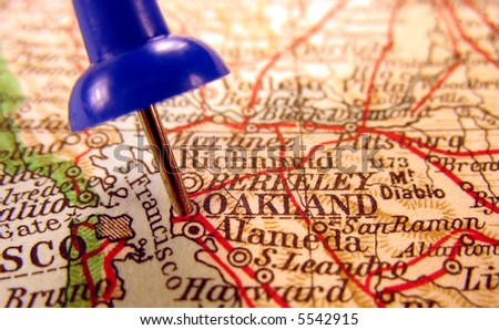 Oakland, California, the way we looked at it in 1949 - stock photo