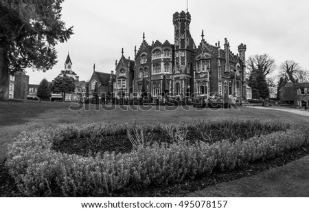 Oakley Court Victorian Gothic Country House Stock Photo Royalty