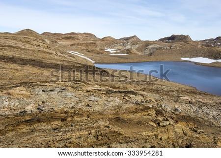 Oasis in East Antarctica - stock photo