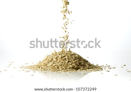 Oat drop - stock photo