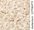 oat flakes background closeup - stock photo