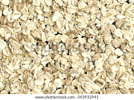 oat flakes, oatmeal porridge - stock photo