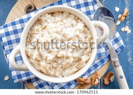 Oatmeal - stock photo