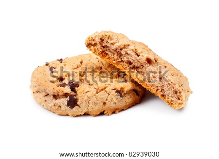 Oatmeal Chocolate Chip Cookies - stock photo